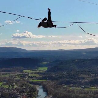 """We are super stoked to welcome @salomecholet to the SLACKTIVITY Athlete Team. Salomé has a style full of energy and loves to play for hours and hours on highlines. Like here on her home-line in Southern France. The line is rigged on pinkTube type B and the session got filmed by @coblanc__  What she loves about slacklining? """"This intense freedom and this continuous smile I got when I'm walking, bouncing, playing on the line and the beautiful community around it!"""" Salomé is 21 years young and full of ideas what to try on highlines - there is so much more to come from her - stay tuned ;-)  . . #homeline #slacklife #teamathlete #slacktivity #slackline #highline #wildmoves #girlonfire #freestylesport #highlinefreestyle"""