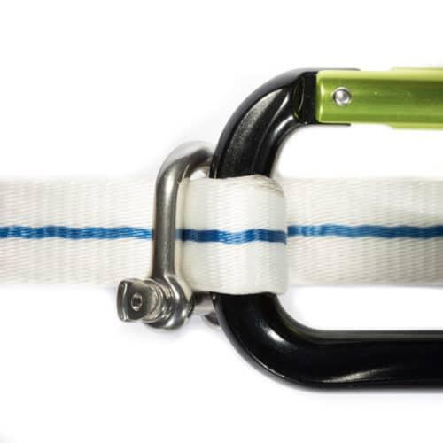 6mm d shackle for slacklining