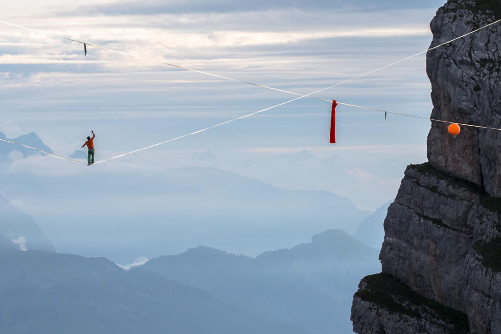 forces in highlining