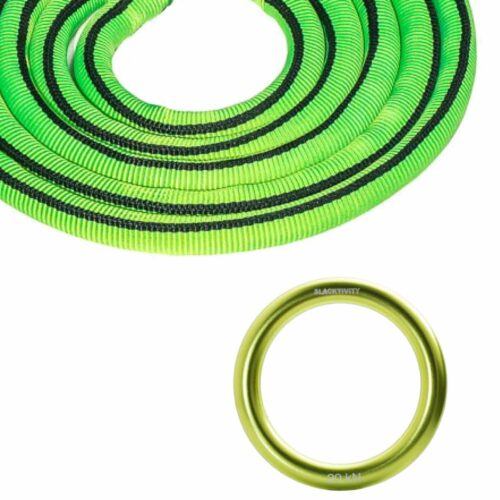 green highline leash and ring