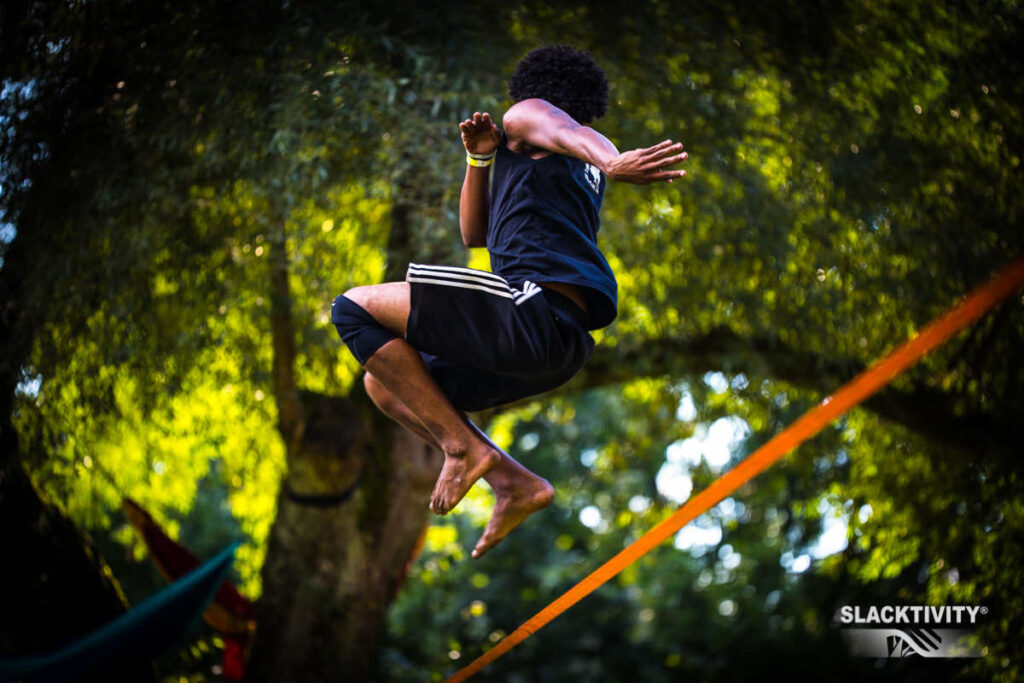 how to trickline slackline