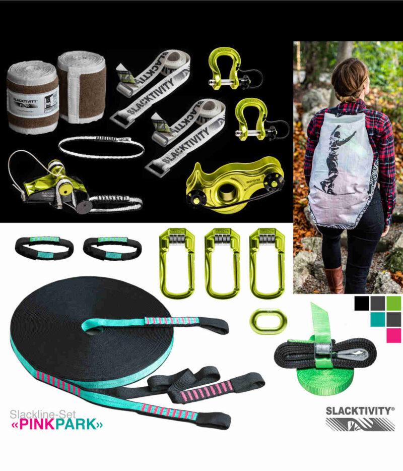 pinkpark longline slackline kit 9:1 system