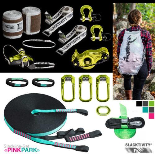 longline slackline kit pinkpark