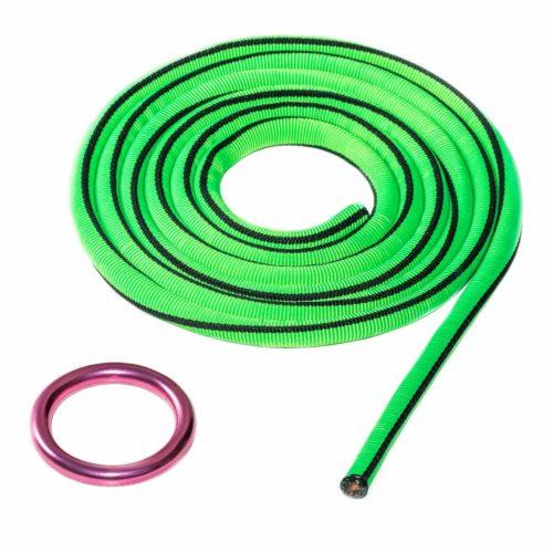 ISA certified highline leash green