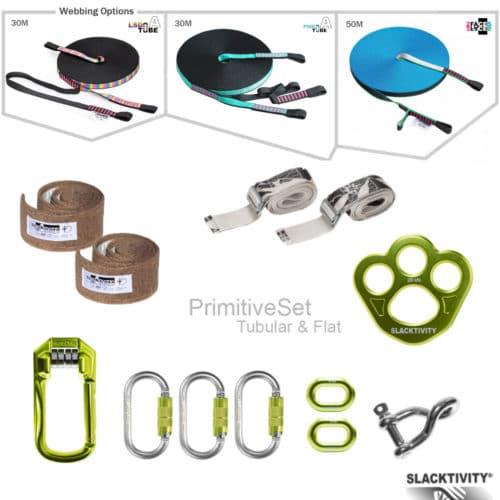 primitive slackline kit 30m 50m
