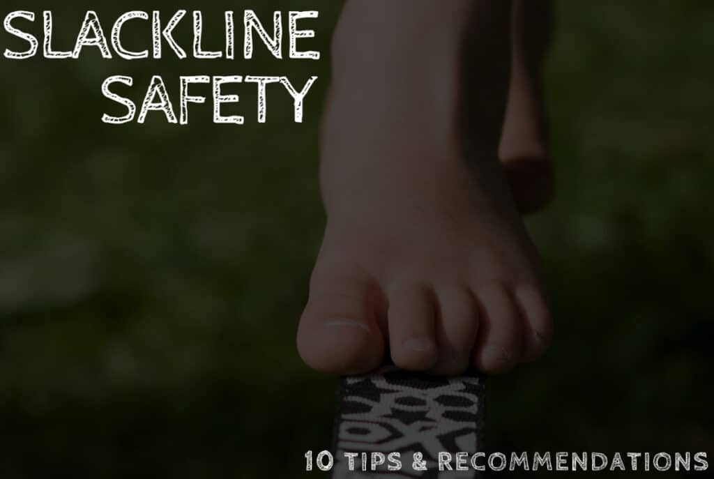 slackline safety and good practices